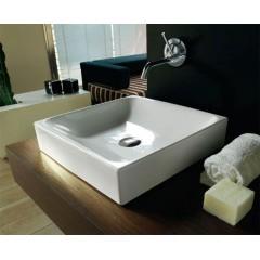 KERASAN - CENTO keramické umyvadlo 45x45cm, na desku 354401