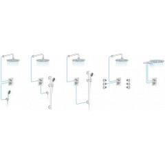 AQUALINE - KASIOPEA podomítková sprchová baterie, 2 výstupy, chrom 1107-42