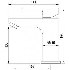 AQUALINE - CANTINO stojánková umyvadlová baterie bez výpusti, chrom 1126-02