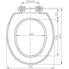 AQUALINE - REGINA WC sedátko, polypropylen, bílá 3551
