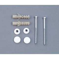 AQUALINE - MAK10 komplet pro kotvení WC mís, vrut 6,0x80, bílá 40024