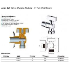 AQUALINE - Pračkový kulový ventil se zpětným ventilem 1/2'x3/4' - L, chrom 5310
