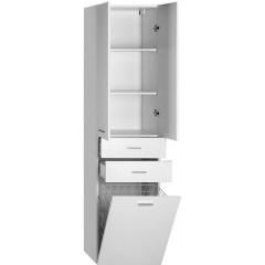 AQUALINE - ZOJA/KERAMIA FRESH skříňka vysoká s košem 50x184x29cm, bílá 51293