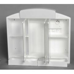 AQUALINE - RANO galerka 59x51x16cm, 2x12W, bílá plast 541302