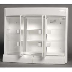 AQUALINE - SAPHIR galerka 60x51x18cm, zářivka T8,1x15W, G13, bílá plast 591322