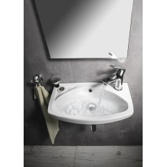 AQUALINE - Keramické umyvadlo 45x28cm 91451