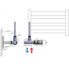 SAPHO - MONO ONE připojovací sada ventilů termostatická jednobodová, chrom CP2050