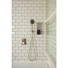 SAPHO - MINIMAL podomítková sprchová baterie, 2 výstupy, nerez MI042