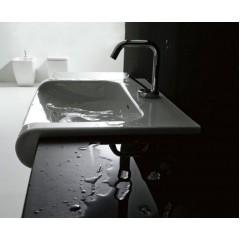KERASAN - INKA odkladná keramická deska 22x35,5cm, černá lesk 341604