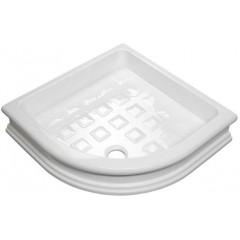 KERASAN - RETRO keramická sprchová vanička, čtvrtkruh 90x90x20cm, R550 133901