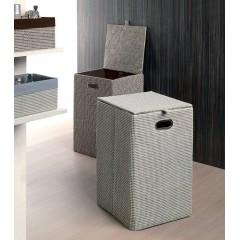 AQUALINE - Koš na prádlo 35x58x35cm, šedá LA3808
