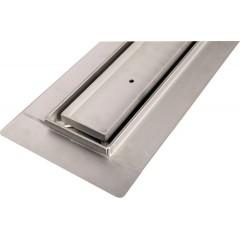 GELCO - MANUS PIASTRA nerezový sprchový kanálek s roštem pro dlažbu, 750x130x55 mm GMP83