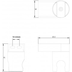 AQUALINE - Držák sprchy, otočný, ABS/chrom 1205-33