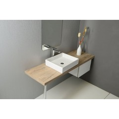 ISVEA - PURITY keramické umyvadlo 50x42cm, na desku 10PL66050