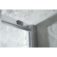 AQUALINE - AGGA čtvercová sprchová zástěna 800x800mm, čiré sklo HLF808