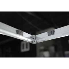 AQUALINE - AGGA čtvercová sprchová zástěna 900x900mm, čiré sklo HLF909