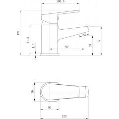 AQUALINE - ARETA 35 stojánková umyvadlová baterie bez výpusti, chrom GH368