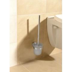 AQUALINE - SAMBA nástěnná WC štětka, mléčné sklo SB108