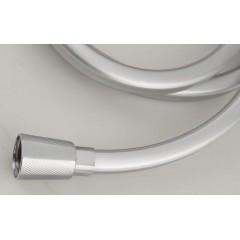 SAPHO - QUADROFLEX hranatá sprchová hadice, 150cm, stříbrná/chrom 1208-13