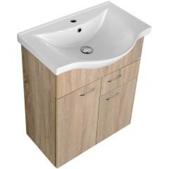 AQUALINE - KERAMIA FRESH umyvadlová skříňka 60x74x33,7cm,dub platin 50066