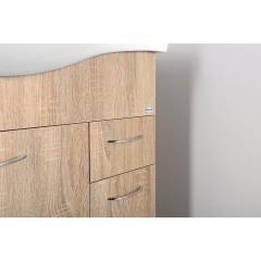 AQUALINE - KERAMIA FRESH umyvadlová skříňka 74,5x74x34,7cm,dub platin 50083