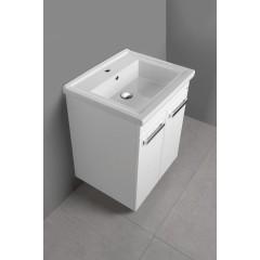AQUALINE - POLY umyvadlová skříňka 56x74,6x46,5cm, 2xdvířka, bílá PL062