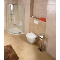 AQUALINE - SAMBA stojan s podstavcem, WC štětkou a držákem toaletního papíru, chrom SB131