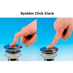 """AQUALINE - Umyvadlová výpust 5/4"""", click-clack, velká zátka, tl.30-45mm, chrom TF7001"""