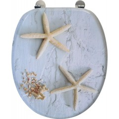 AQUALINE - FUNNY WC sedátko s potiskem mořská hvězda, bílá HY1185