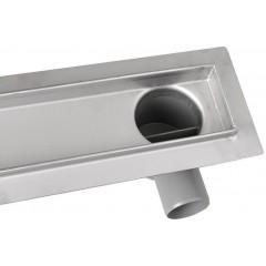 AQUALINE - PAVINO Nerezový sprchový kanálek s roštem pro dlažbu, 760x140x92 mm 2710-80