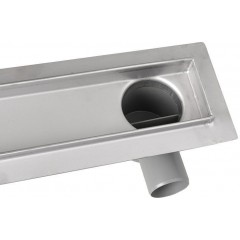 AQUALINE - PAVINO Nerezový sprchový kanálek s roštem pro dlažbu, 860x140x92 mm 2710-90