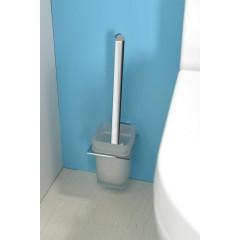 AQUALINE - APOLLO WC štětka, mléčné sklo 1416-08