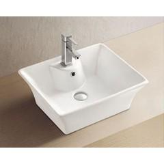 AQUALINE - Keramické umyvadlo 49,5x41,5x19,5 cm, na desku 49411