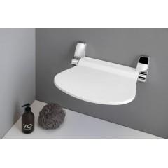 Gedy - SOUND sklopné sedátko do sprchového koutu, 38x35,5cm, bílá 2282