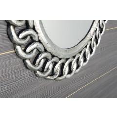 SAPHO - CERCLE kulaté zrcadlo v rámu, 80x80cm, stříbrná IN138