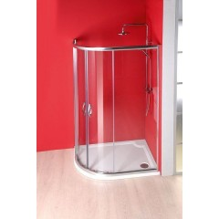 GELCO - RIVA sprchová vanička z litého mramoru, čtvrtkruh 100x80cm, pravá GR10080R