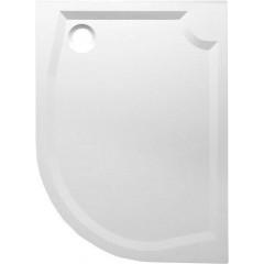 GELCO - RIVA sprchová vanička z litého mramoru, čtvrtkruh 100x80cm, levá GR10080L