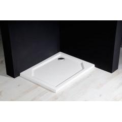 GELCO - SARA sprchová vanička z litého mramoru, obdélník 90x75x3,5 cm, hladká HS9075