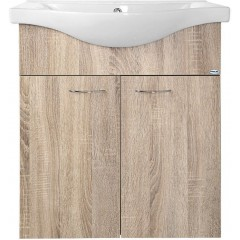 AQUALINE - KERAMIA FRESH umyvadlová skříňka 60,60x74x33,7cm,dub platin 50065