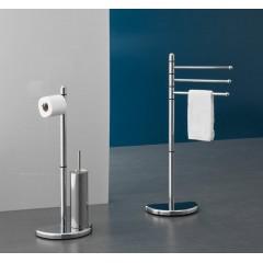 AQUALINE - HIBISCUS stojan s držákem na toaletní papír a WC štětkou, chrom HI32