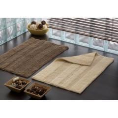 AQUALINE - DELHI koupelnová předložka, 50x80 cm, 100% bavlna, oboustranná, béžová DE508003