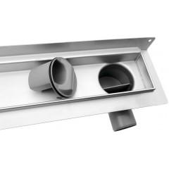 AQUALINE - KROKUS nerezový sprchový kanálek s roštem, ke zdi, 760x122x92 mm 2715-80