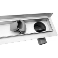 AQUALINE - KROKUS nerezový sprchový kanálek s roštem, ke zdi, 860x122x92 mm 2715-90