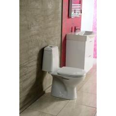 AQUALINE - RIGA WC kombi, dvojtlačítko 3/6l, spodní odpad, bílá RG801