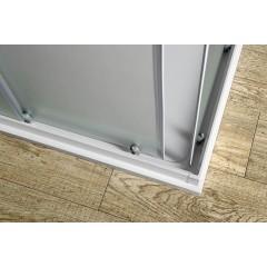 AQUALINE - ALAIN čtvercová sprchová zástěna 900x900 mm, sklo BRICK BTQ900