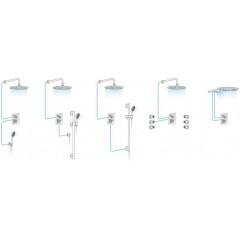 AQUALINE - LOTTA podomítková sprchová baterie, 2 výstupy, chrom LT742