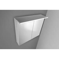 AQUALINE - KAWA galerka s LED osvětlením 80x70x25,5cm, bílá WGL80