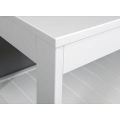 AQUALINE - ETIDE policový regál nízký 61x45x36 cm, bílá mat ET061