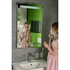 AQUALINE - LED podsvícené zrcadlo 50x80cm, skleněná polička, kolíbkový vypínač ATH52