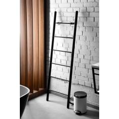 SAPHO - KARBO elektrický sušák ručníků, kulatý, 400x1120 mm, 87 W, černá mat KB904